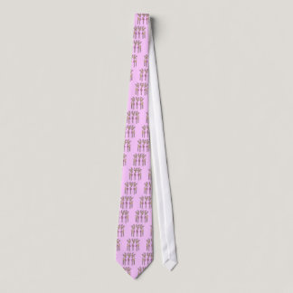 Pink Ribbon Reindeer - Breast Cancer Neck Tie
