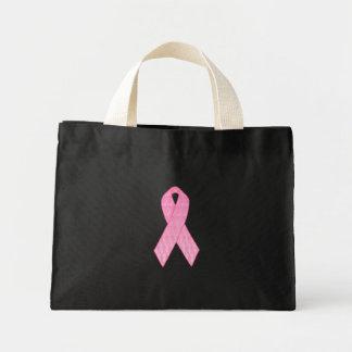 Pink Ribbon Repeating Mini Tote Bag