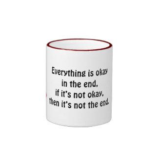 Pink Ribbon Ringer Mug