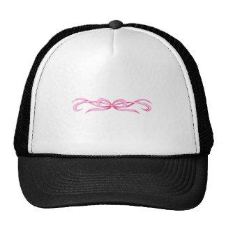 PINK RIBBON SCROLL TRUCKER HAT