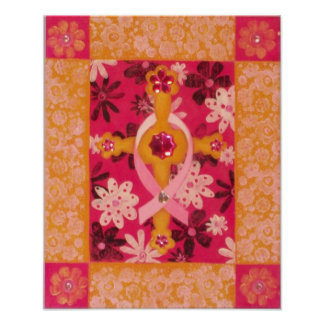 Pink Ribbon Series: Faith: Breast Cancer Awareness Poster