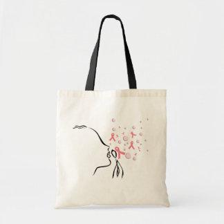 Pink Ribbon Set Me Free Canvas Bag