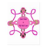 Pink Ribbon Sisters United Postcard