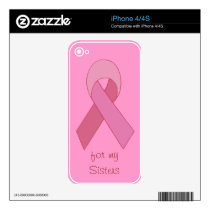 pink ribbon skin skin for iPhone 4S