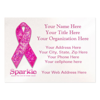 Pink Ribbon Sparkle gifts Business Card Templates