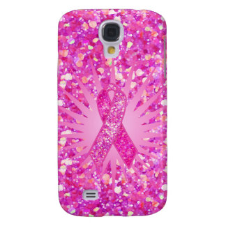 Pink Ribbon Sparkle gifts Galaxy S4 Case