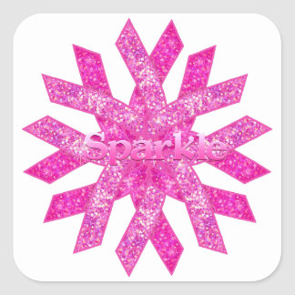 Pink Ribbon Sparkle gifts Square Sticker
