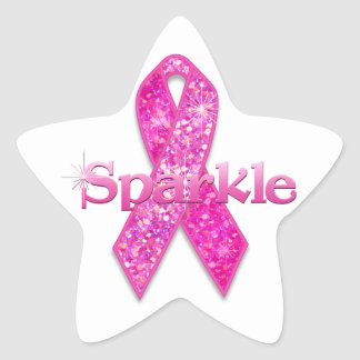 Pink Ribbon Sparkle gifts Sticker