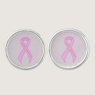 Pink Ribbon Support Awareness Cufflinks