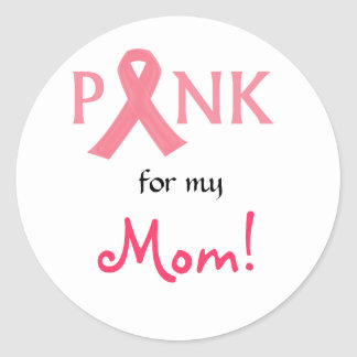 Pink ribbon Support Classic Round Sticker