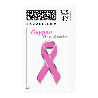 Pink Ribbon, Support One Another  Stamp