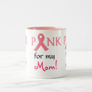 Pink ribbon Support Two-Tone Coffee Mug