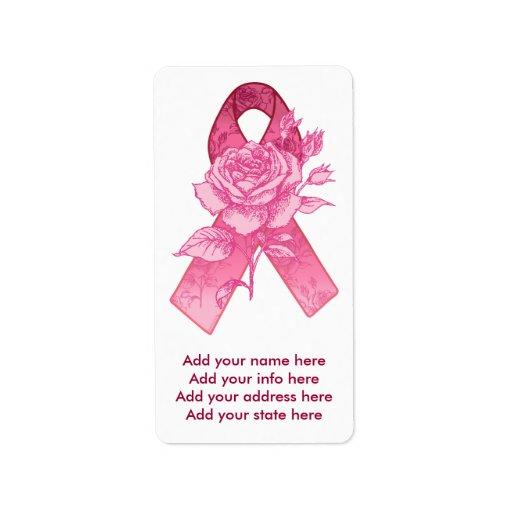 Pink Ribbon Survivor Address Label