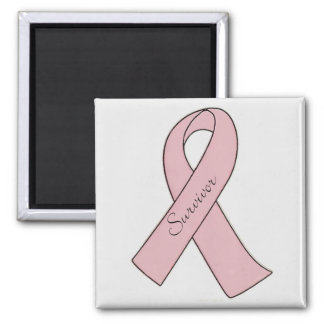 Pink Ribbon Survivor - Magnet