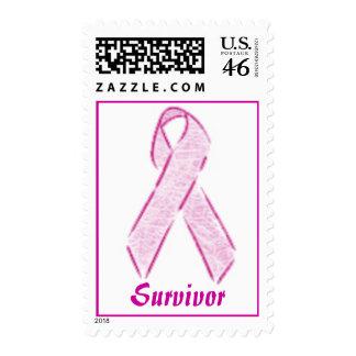 Pink Ribbon, Survivor Postage Stamp