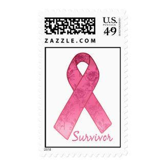 Pink Ribbon Survivor Postage Stamps