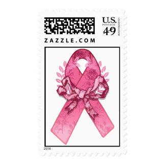 Pink Ribbon Survivor Postage Stamp