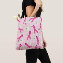 pink ribbon symbols tote bag