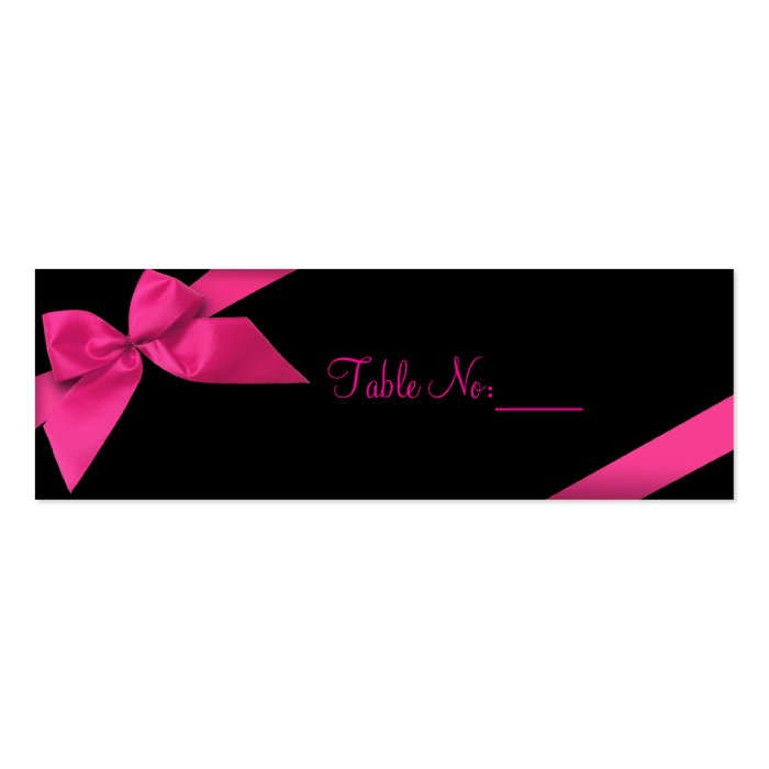 Pink Ribbon Table Place Custom Card