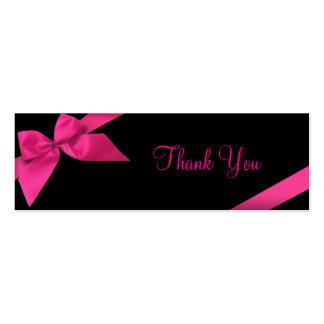 Pink Ribbon Thank You Card Mini Business Card