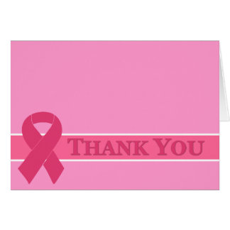 Pink Ribbon Thank You Cards