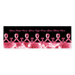 Pink Ribbon Thank You Double-Sided Mini Business Cards (Pack Of 20)