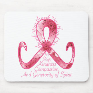 Pink Ribbon Thank You Mouse Pad