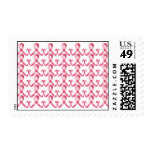 Pink Ribbon Thank You Postage Stamps