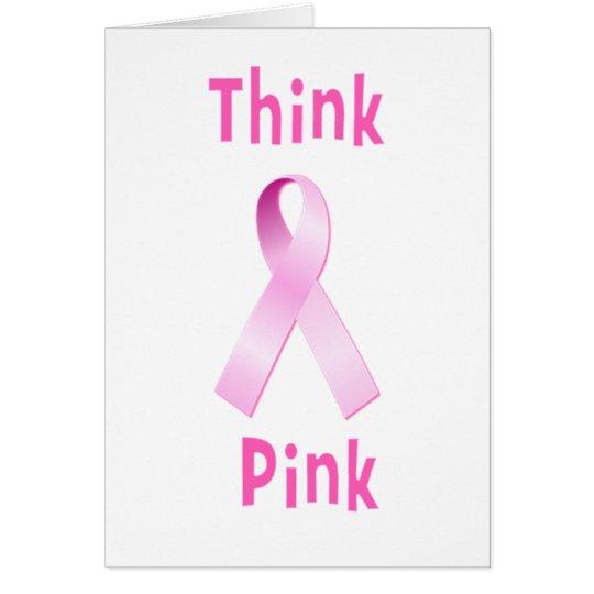 Pink Ribbon - Thnk Pink Card