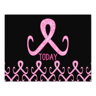 "Pink Ribbon Today 4.25"" X 5.5"" Invitation Card"