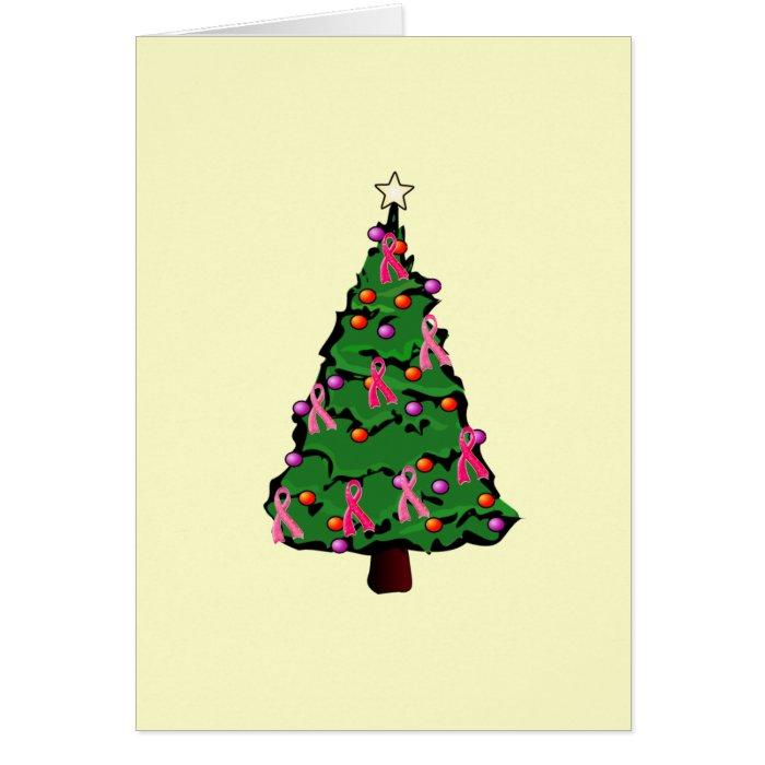 Pink Ribbon Tree Card