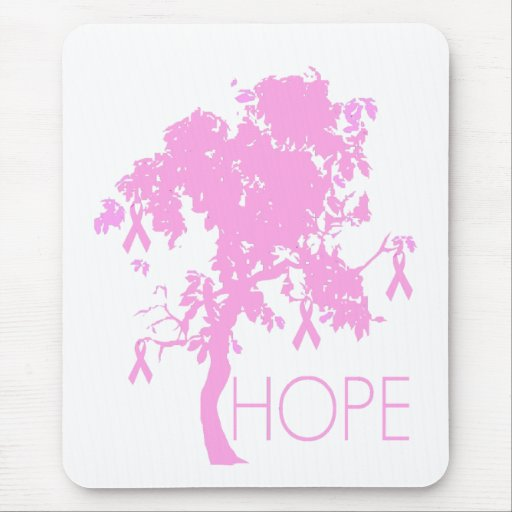 Pink Ribbon Tree of Hope Mousepads