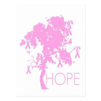 Pink Ribbon Tree of Hope Postcard