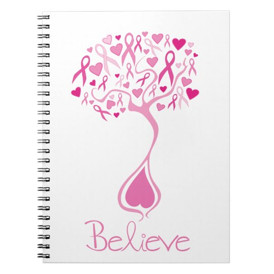 Pink Ribbon/Tree of Life Breast Cancer Notebook