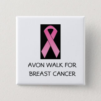 pink ribbon walk for breast cancer button