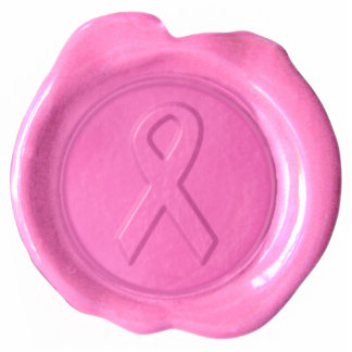Pink Ribbon Wax Seal Diecut Magnet
