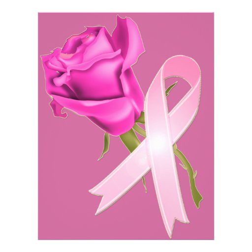 Cancer ribbon rose tattoos
