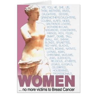 Pink Ribbon Women Card