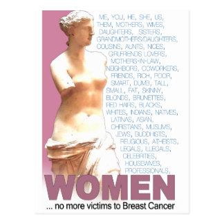 Pink Ribbon Women Postcard