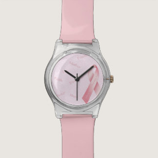 Pink Ribbon Wristwatch