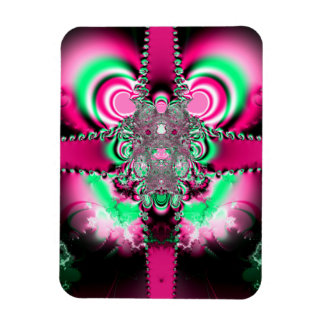 Pink Ribbons and Bow Fractal Magnet