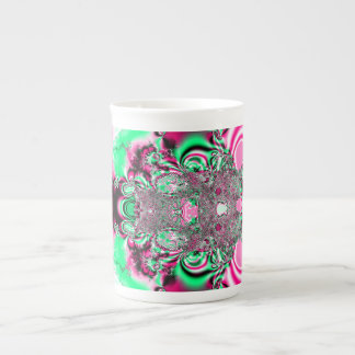 Pink Ribbons and Bow Fractal Tea Cup