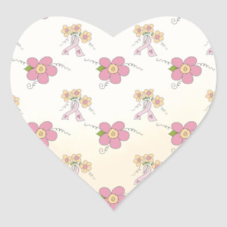 Pink Ribbons and Flowers Sticker