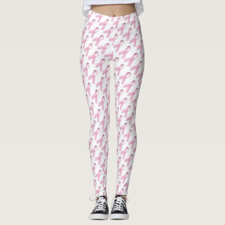 Pink Ribbons BREAST CANCER AWARENESS SUPPORT Leggings