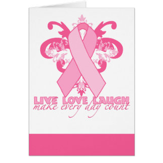 Pink Ribbons Every Day Card
