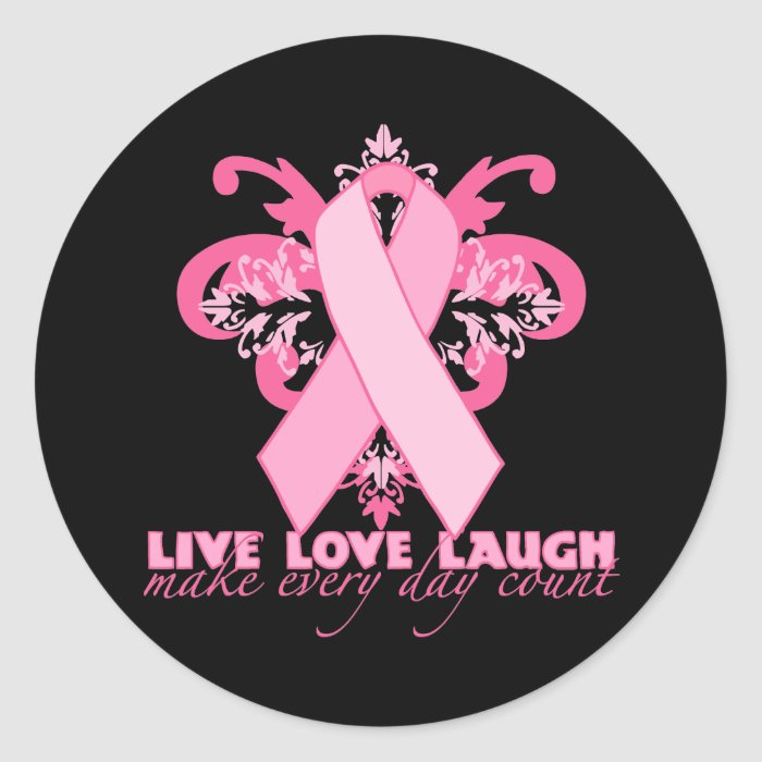Pink Ribbons Every Day Classic Round Sticker