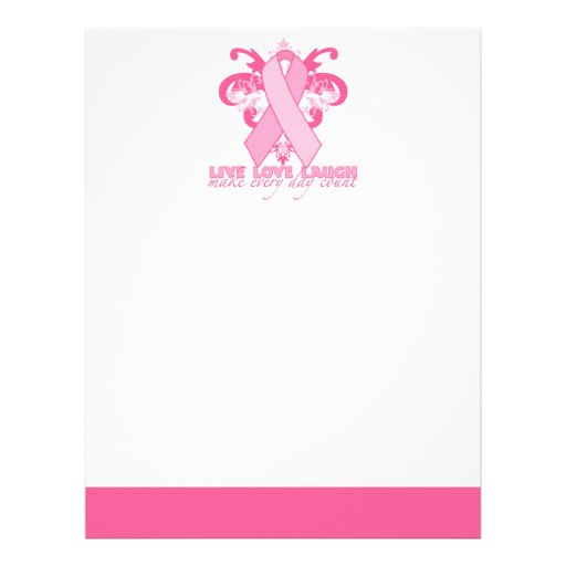 Pink Ribbons Every Day Letterhead