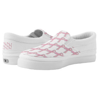 breast cancer awareness canvas shoes printed shoes zazzle