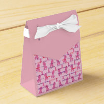 Pink Ribbons for Cancer Awareness and Support Favor Box