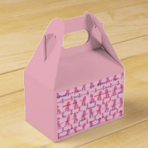 Pink Ribbons for Cancer Support and Awareness Favor Box